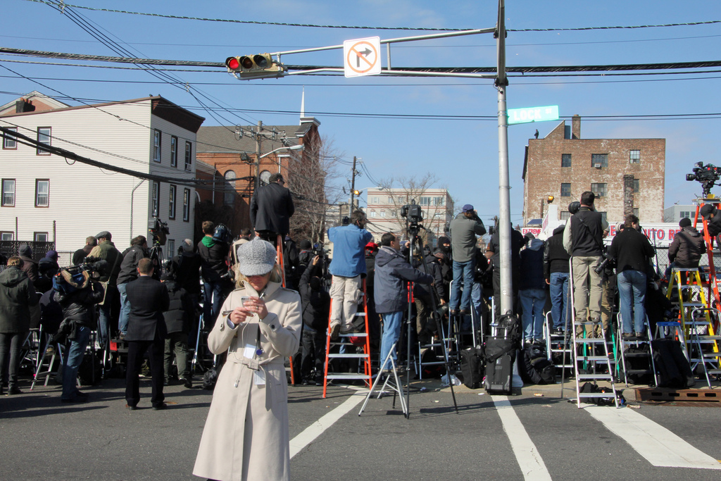 Reporting on Whitney Houston's Homegoing Service